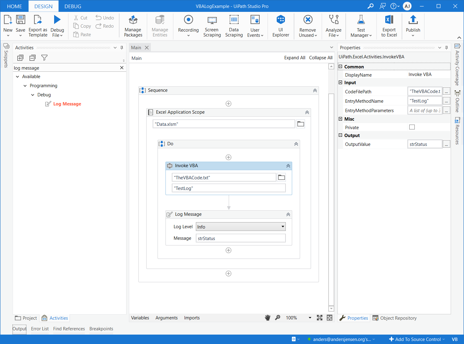 Read more about the article How to output values from a VBA macro to UiPath
